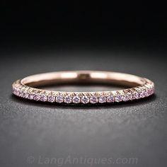 Fancy Pink Diamond Eternity Band