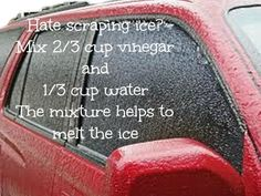 Vinegar Water Ice Melter - Does it work? - find out at alwaystheholidays.com