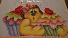 Catia Artes Manuais: ABELHA COUNTRY PINTADA COM RISCO E CORES