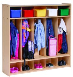 Five Section Locker- I would love this! If only I could trust myself cutting wood-i could make it myself!!!