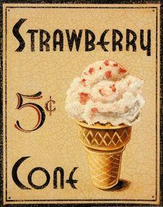 Strawberry 5 cent cone