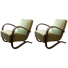 "Pair of Jindrich Halabala ""H269"" Armchairs"