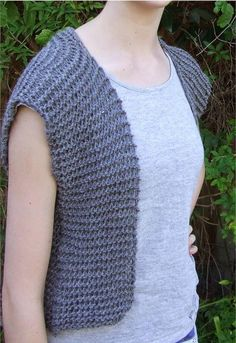 Moonstone Beginner Vest Pattern   This vest knitting pattern is cute and simple!