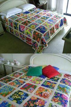 Beautiful floral blanket