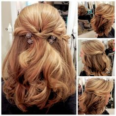 Half up UPDO with soft loose curls - By Tina Rosado