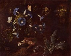 Otto Marseus van Schrieck, Toad and a Morning Glory, 1660