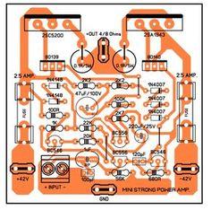 500w power amplifier 2sc2922 2sa1216 with pcb layout design dol pinterest circuit diagram. Black Bedroom Furniture Sets. Home Design Ideas