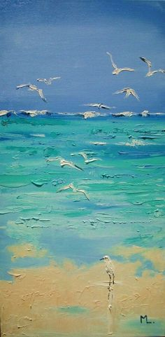 🎨 🌊 Art OIL ON CANVAS olny one, original painting - palette knife - with Certificate of Authenticity Seascape Paintings, Landscape Paintings, Painting Abstract, Abstract Portrait, Portrait Paintings, Acrylic Paintings, Oil Painting On Canvas, Painting Art, Watercolor Paintings