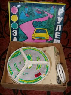Rare Vintage 1981 CCCP Soviet Russian Toy Drive Car USSR with BOX Ship Worldwide