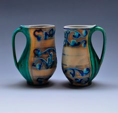 Julia Galloway. These have got to be the sexiest cups I've ever seen : )