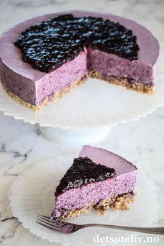 Blåbæriskake | Det søte liv Cheesecake, Baking, Desserts, Food, Bread Making, Meal, Patisserie, Cheesecakes, Backen
