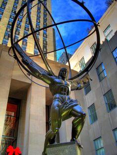 Atlas, Rockefeller Center NY-Paul Manship
