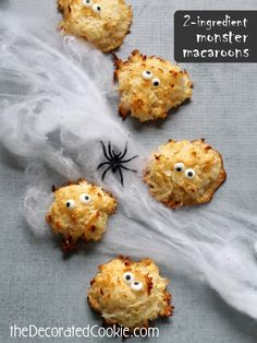 2 ingredient macaroon monsters for Halloween