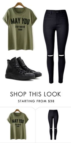"""Untitled #257"" by sierrapalmer10 on Polyvore featuring WithChic and Converse"