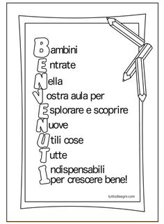 benvenuti-bambini-accoglienza Back 2 School, Beginning Of School, I School, School Teacher, First Day Of School, Primary School, Italian Grammar, Italian Language, Nouns Worksheet