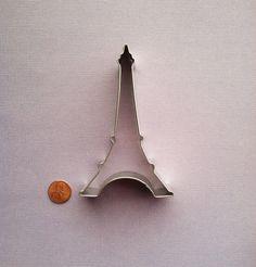 Eiffel Tower Cookie Cutter  Paris Cookie by DIYSweetSupplyCo, $2.48. Oh man, Eiffel Tower cookies. Too cute.
