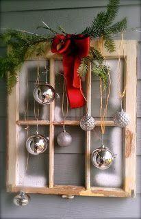 # DIY-Vintage-Christmas- # - home decor ideas Christmas Projects, Christmas Home, Holiday Crafts, Vintage Christmas, Christmas Ornaments, Ornaments Ideas, Christmas Wreaths, Silver Ornaments, Elegant Christmas