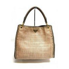 a02c5ad92167 PRADA STUNNING PEACHT MADRAS WOVEN LEATHER LARGE SHOULDER BAG  Prada   Fashion  Handbags