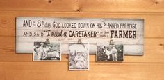 And on 8th Day God Made A Farmer Photo Clip Frame - Christmas, Father's Day…