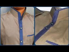 How to make designer Chinese collar Muslim Men Clothing, African Clothing For Men, African Shirts, African Men Fashion, Mens Clothing Styles, Latest Kurta Designs, Mens Kurta Designs, Kurti Neck Designs, Blouse Designs