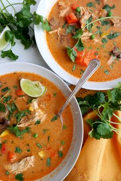 Thai Curry Soup with Chicken