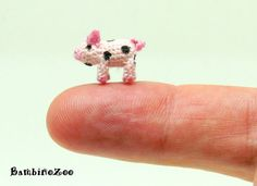 Miniature amigurumi pig. Comes with FREE collector's by BambinoZoo