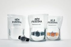 creative ideas design packaging waterproof watch festina