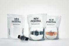 creative ideas design packaging waterproof watch festina