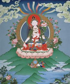 White Tara: White Tara is an emanation of Tara who is connected with longevity. One calls on her for health, strength, and longevity. White Tara is also known as Samaya Tara, meaning Vow Tara. This refers to Tara's vow to save all beings and Buddhist practitioner practicing this deity takes a similar vow to help other beings from their suffering.