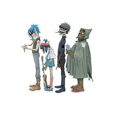 Gorillaz ❤ liked on Polyvore featuring anime, filler and music