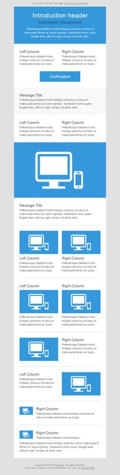 Really Simple Responsive HTML Email Template | Email Template ...