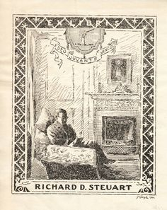 Richard D. Steuart bookplate (1920).James Doyle Jr. Steuart (1880–1951) was a journalist in Baltimore known as Carroll Dulaney, the name he used for his Day by Day column in the Baltimore News-Post. Steuart was also an historian focusing mainly on Maryland history and the role that Maryland played during the American Civil War.