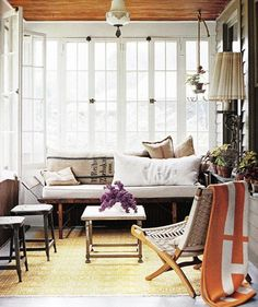 Small Yet Comfy Sunroom