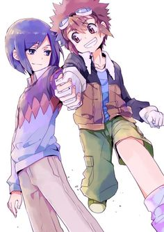 Digimon Adventure 02: Davis (Daisuke) Motomiya and Ken Ichijouji