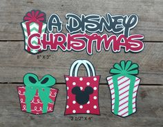 Disney Christmas Scrapbooking Embellishments or Window Decorations by ScrapWithMeToo on Etsy