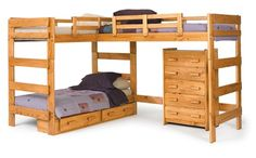 Corner Triple Bunk bed