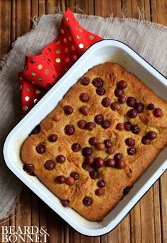 Olive Oil Cake with Polenta and Roasted Red Grapes (Gluten Free) #projectlunchbox