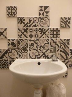 Downstairs Toilet, Machuca Tiles, Lave Main Wc, Toilette Design, Salon  Design, Powder Room, Bathroom Ideas, Boulogne, Parental Advisory, Colors,  ...