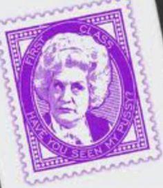 Mock stamp Mollie Sugden, Superstar, Stamp, Funny, Stamps, Funny Parenting, Entertaining, Hilarious, Humor