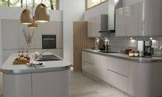 Handleless Cashmere Gloss Kitchen image 2