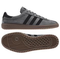 Adidas Bermuda in grey/black/gum available to pre-order now