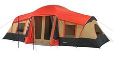 Buy Ozark Trail 10 Person 3 Room Cabin Tent x 6 window 3 Doors and Mud Mat at online store Best Family Camping Tents, Family Tent, Tent Camping, Outdoor Camping, Glamping, Camping Cabins, Camping Stuff, 3 Room Tent, Tent Cot