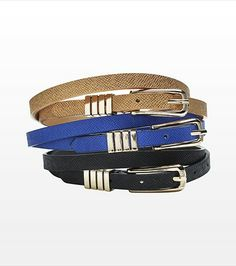 #DYNHOLIDAY Textured Skinny Belt Trio