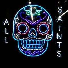 'ALL SAINTS'                                                                                                                        NEON SIGN                                                                                                                       ๑෴MustBaSign෴๑