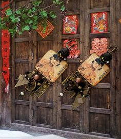 Boucles d'oreilles tribales Chinoises portrait de par FUJIGIRLS