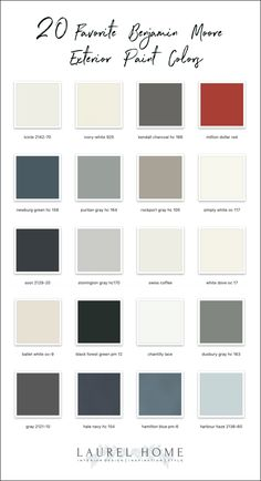 20 Favorite Exterior Paint Colors + Doors and Trim Outdoor Paint Colors, Best Paint Colors, Paint Colors For Home, Best Exterior Paint, Exterior Paint Colors For House, Interior Paint Colors, Exterior Design, Exterior Paint Schemes, Paint Combinations