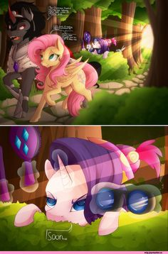 ,Fluttershy,Rarity,King Sombra,art