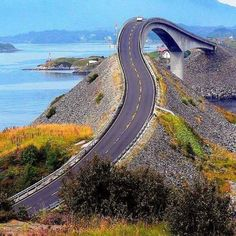 Atlantic Road, Norway   I dreamt a highway like this. Wonder what it means.