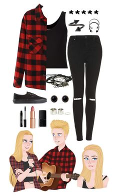 """""""Female Luke Hemmings"""" by alex-bows ❤ liked on Polyvore featuring Majestic Filatures, Topshop, Lord & Berry, Charlotte Tilbury, NARS Cosmetics, Adele Marie, Pieces and Vans"""