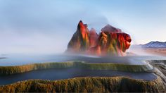 Bing Image Archive: Fly Geyser near Black Rock Desert, Nevada (© Ropelato Photography/Getty Images)(Bing United States) Really? Fly Geyser Nevada, Natural Wonders, Resorts, Places To See, Hidden Places, The Good Place, Beautiful Places, Amazing Places, House Beautiful